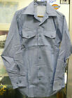 US NAVY MEN'S BLUE CHAMBRAY UTILITY SHIRT DENIM SEA SCOUT SEA CADET SMALL 32 SL