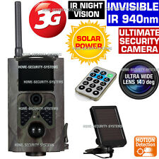 3G Trail Camera Solar GSM MMS Wireless Home Security Farm Cam IR 1080P Hidden