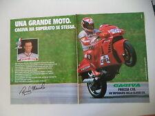 advertising Pubblicità 1988 MOTO CAGIVA FRECCIA 125 C10 C 10 R e RANDY MAMOLA