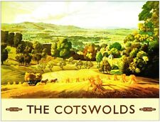 The Cotswolds British Railway Vintage Old Picture Retro Poster A4 Print