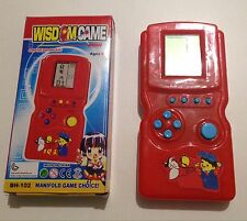 Red WISDOM Electronic Lcd Video Game Handheld Console Educational Toy Boxed New