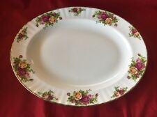 "Beautiful Royal Albert Old Country Roses 13 1/2"" Oval Serving Platter Tray"