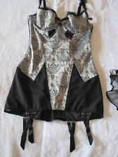 DITA VON TEESE SHEER WITCHERY CORSELETTE/ BUSTIER SIZE12C  BNWOT