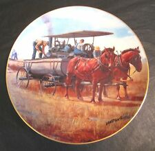 Danbury Mint WATER WAGON Farming The Heartland SIGNED Collector Plate J69