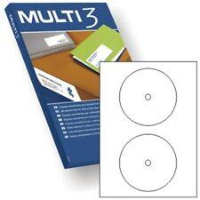 200 etiquetas adhesivas medida cd / dvd 100 hojas compatible apli pc envios
