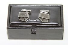 Mens Kenneth Cole 31-4975-40 Metal Bow Cufflinks NWT $46