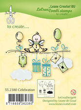 Leane Creatief Clear Stamps - Celebration - 55.2380 - Presents - Balloons - Baby