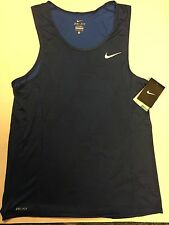 Nike Miler Optical Run Running Tank Top Singlet 826051 480 Blue Mens Size Large