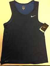 Nike Miler Optical Run Running Tank Top Singlet 826051 480 Blue Mens Size 2XL