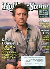 2010 Rolling Stone Magazine: Robert Downey Jr/Ke$ha/Green Day/Melissa Etheridge