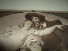 Rubens and His Model - Photogravure nude Hans Makart