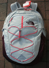 THE NORTH FACE WOMENS BOREALIS BACKPACK- DAYPACK-CHK3- LUNAR ICE GREY/MELON REE