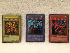 YU-GI-OH god Cards Dragon Ra, Obelisk Tormentor, Slifer Sky Dragon GBI 001, 2, 3