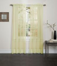 """YELLOW SHEER VOILE WINDOW CURTAIN PANEL, GREAT QUALITY SHEER CURTAIN - 55""""X84"""""""