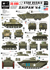 Star Decals 35-886, Decals for Saipan '44. DUKW, M4A2 Sherman&Others, 1:35