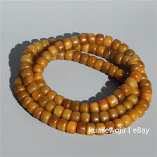 Tibetan Old Material Yak Bone Kapala 108 Buddha Barrel Beads Prayer Beads