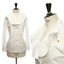BACK by ANN-SOFIE BACK white oversized open collar button up cotton shirt top M