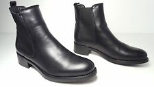 $375 size 8 La Canadienne Sara Black Leather Ankle Boots Womens Casual Shoes