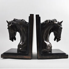 Horse Head Bookends Bronze Sculpture Standing Statue Art Figure BRAND NEW 01732