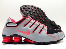 NIKE SHOX NZ ID BLACK/ANTHRACITE-SOLAR RED SIZE WOMEN'S 9 [445485-981]