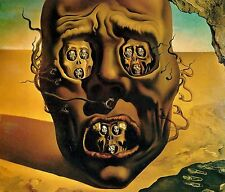 Salvador Dali, The Visage of War,1976,OFFSET LITHOGRAPH UNSIGNED