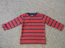 Boys Next Red and black striped T-Shirt age 2-3 Years