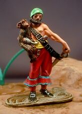 54mm Metal Pirate with Monkey Beautifully Painted!