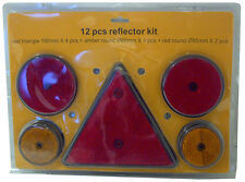 KIT CATADIOPTRE + TRIANGLE REFLECHISSANT REMORQUE TRACTEUR - 12 PIECES