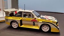 SCALEXTRIC Slot Car 1:32 AUDi Quattro Sport S1 Lights DPR Detailed White Yellow