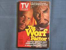 TV GUIDE THE WORF FACTOR CAN STAR TREK THE NEXT GENERATION MICHAEL DORN RE-ENERG