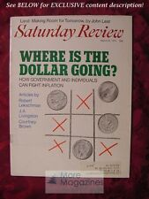 Saturday Review March 6 1971 ROBERT LEKACHMAN J. A. LIVINGSTON COURTNEY C. BROWN
