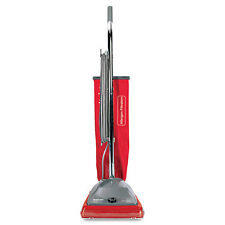 Commercial Standard Upright Vacuum, 19.8lb, Red/Gray