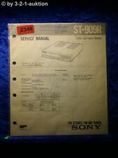 Sony Service Manual ST 909R Tuner  (#2348)