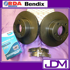 RDA Front Brake Disc Rotors & BENDIX Pads to fit FORD FALCON AU Series 2 & 3
