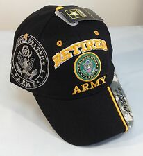 US Army RETIRED Ball Cap WWII Korea Vietnam Gulf War OIF OEF Veteran Hat BLACK