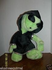 "NANCO GREEN ALIEN WEARING BLACK HOODIE OUTFIT PLUSH 16"" TALL"