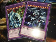 Blue-Eyes Ultimate Dragon + Dragon Master Knight RARE FUSION CLASSIC 1st Edition