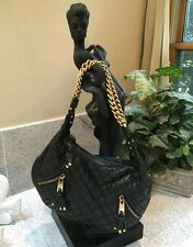 MARC JACOBS Authentic Quilted Shoulder/Handbag Black W/Gold Chain $1395 ITALY