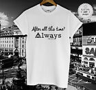 HARRY POTTER T SHIRT ALAN RICKMAN DEATHLY HALLOWS TRIBUTE HOGWARTS SNAPE TOP NEW