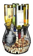Wine Corks Saving Cage & Wine Bottle Holder Storage Organizer Kitchen Decor NEW