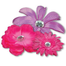School Locker Decoration & Home Accessories: Hot Pink Magnetic Flower Set of 3