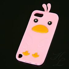 Apple iPod Touch 5 / 5G Silikon Case Schutz Hülle Etui Cover Chicken Rosa