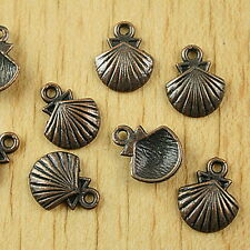 40pcs copper-tone shell charms findings h1825