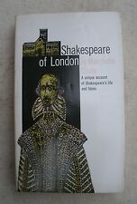 Shakespeare in London by Marchette Chute,paperback,Dutton,1980s edition -bio