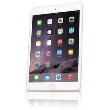 "Apple iPad Mini 3 16GB 7.9"" Tablet w/ Wi-Fi + 4G. Retina Display A1600 - Gold"