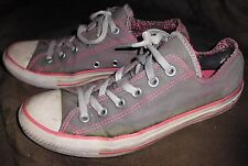 CONVERSE All Star Trashed Double Tongue Grey Pink Canvas Sneakers Shoes Sz 8W