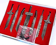 Final Fantasy FF7 VII Advent Children Cloud Assembled Blade Swords set +box new