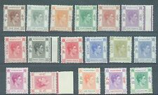 Hong Kong 1938-46 Geo VI 17 values to $5 MH see description