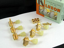 Kluson SD90SLG Tuners 3X3 Single Ring Keystone Button Single Line 15:1 Gold
