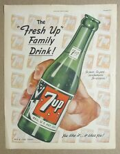 original 1949 Seven-Up Ad 7 Up  So pure, so good, so wholesome for everyone